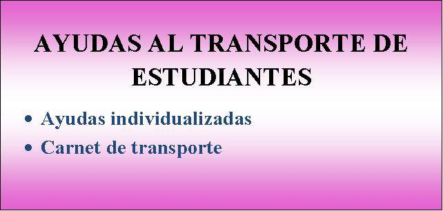 AYUDAS AL TRANSPORTE ESCOLAR 2016/2017