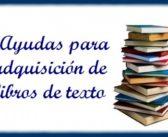 Ayudas para la adquisición de libros de texto para el curso 2018 -2019