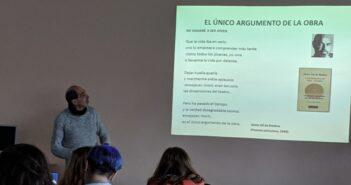 Sesión de poesía para 1º de Bachillerato presentada por el profesor y escritor Luis Iglesias Huelga