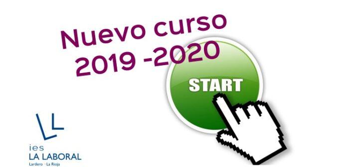 Lunes 9 de septiembre, presentación del nuevo curso 2019 – 2020