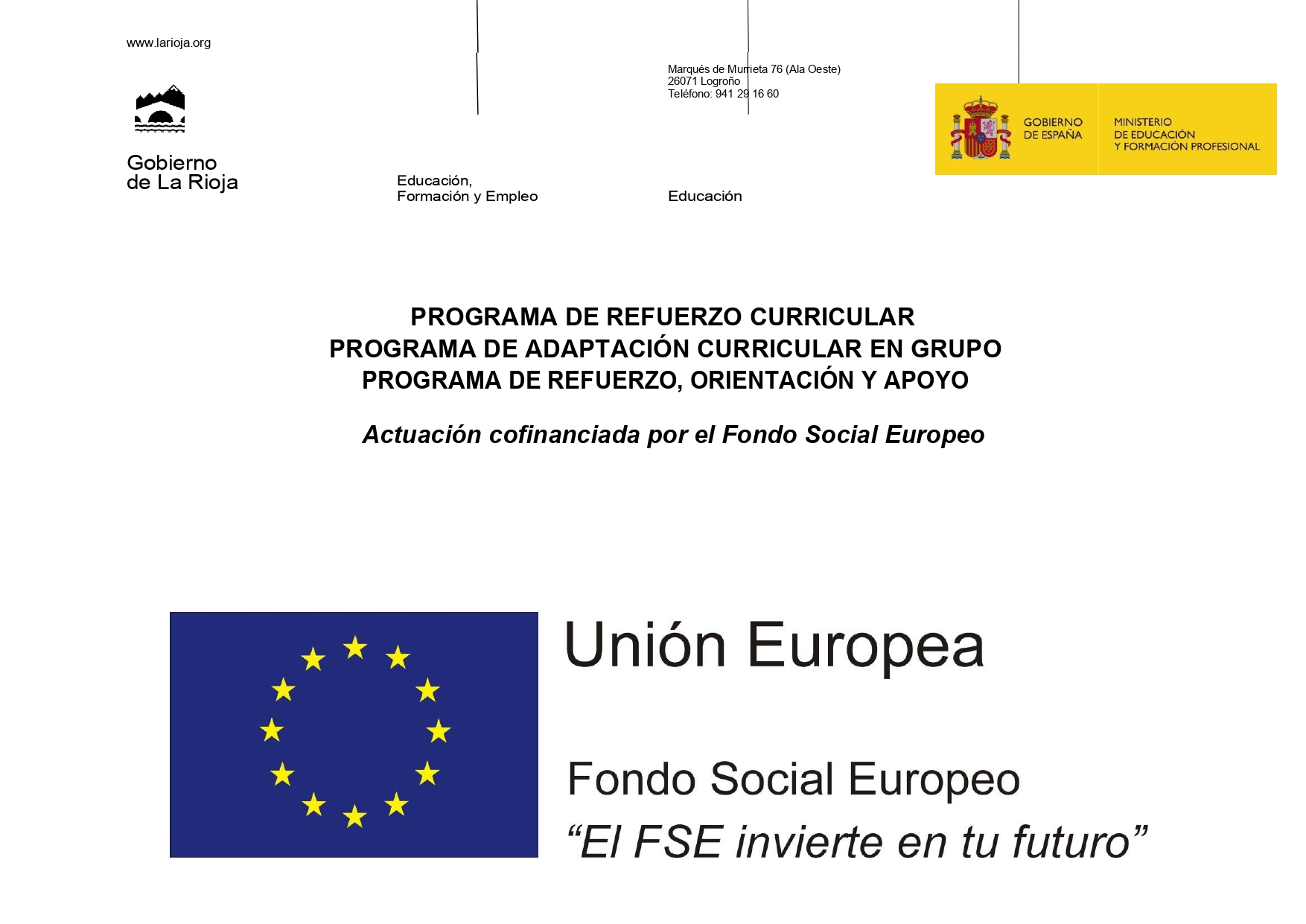 Programas Fondo Social Europeo