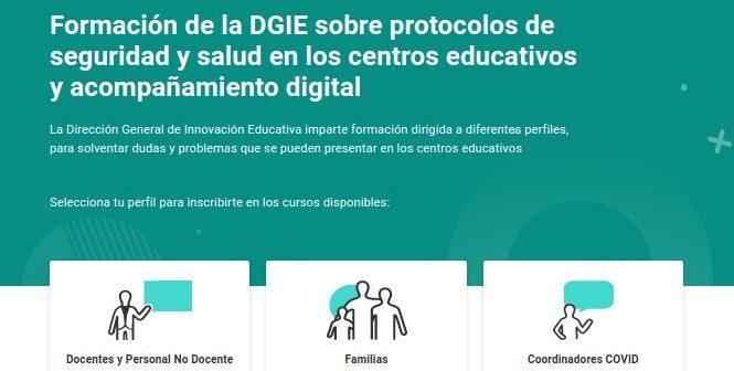 Formación para familias sobre protocolos de seguridad y salud en los centros educativos y acompañamiento digital